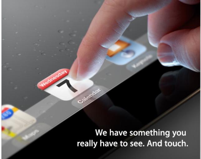 Apple iPad 3 Keynote Einladung
